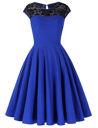 Damen festliche kleider petticoat kleid 50er jahre L BP236-2