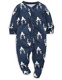 4696ca19df879 Baby Boys Sleepsuit Up To 1 Month Navy Stag / Reindeer Romper Babygrow