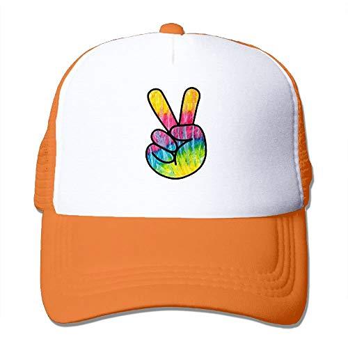 Herren Damen Baseball Caps,Hüte, Mützen, Men/Women Tie Dye Psychedelic Peace Sign Mesh Snapback Hats Adjustable Hip Hop Caps (Hut Topper Baum)