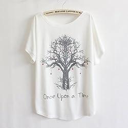Camisetas de algodón para mujer