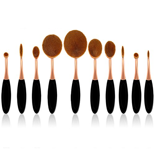 Make Up Brush Set 10 pcs Makeup Brush Set tools Make-up Toiletry Kit (Kit Make-up-tools)