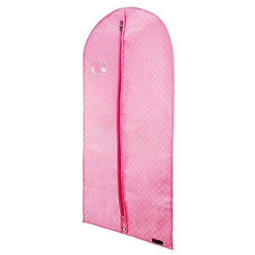 Funda Protecci/ón para Vestidos 114cm Rosa Lunares Hangerworld Cubre Ropa Danza Transpirable
