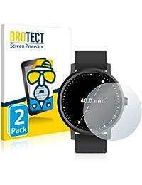 BROTECT Protector Pantalla Anti-Reflejos Compatible con Relojes (Circular, Diámetro: 40 mm) (2 Unidades) Pelicula Mate Anti-Huellas