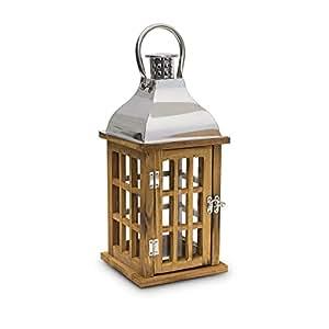 photophore lanterne de jardin en bois 36 cm cuisine maison. Black Bedroom Furniture Sets. Home Design Ideas