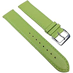Miami Replacement Band Watch Band kalf nappa Strap light green 22553S, width:13mm