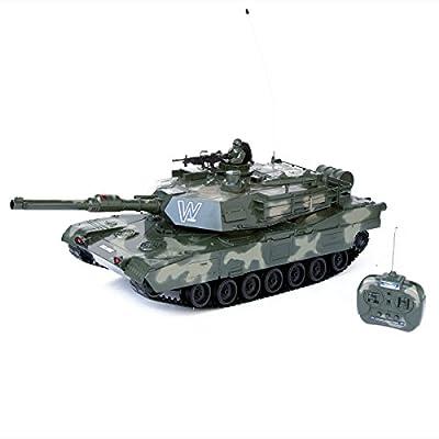 RC ferngesteuerter Panzer Leopard oder Abrams R/C Modellbau 83cm 1:10 von Goods & Gadgets