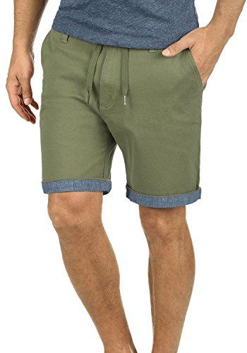 SOLID Lagoa Herren Chino-Shorts kurze Hose Business-Shorts aus hochwertiger Baumwollmischung Dusty Oliv (3784)