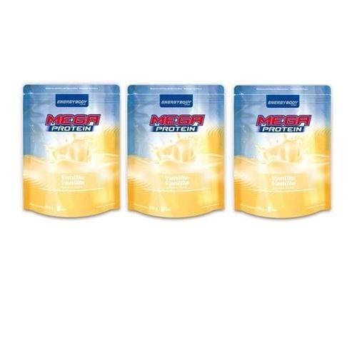 Energybody Mega Protein 80 3 x 500g Beutel 3er Pack Schoko-Nuss