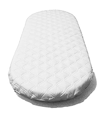 SUZY Microfibre Hypoallergenic Moses Basket Mattress 66x28 x 4cm Thick OVAL SHAPED Will Fit Mothercare Moses Baskets