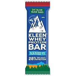 KLEEN protein bars (16-pack) - Organic (BIO) whey protein - Blueberry Pie - Barres protéinées