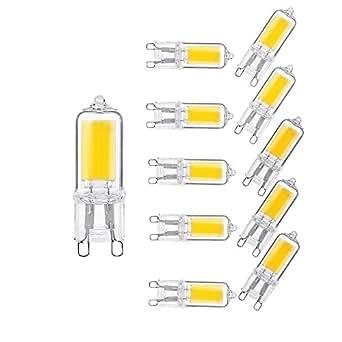 ougeer 10er energiesparende g9 2w led birne kaltweiss 6000k ac220v 240v led birnen led lampen. Black Bedroom Furniture Sets. Home Design Ideas
