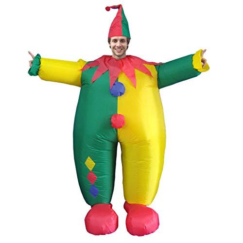 Luftschiff Grüne Kostüm - Dasongff Aufblasbares Kostüm,Fatsuit Aufblasbar Smoking Fett Anzug, Koch Fasching Karneval Party Outfit, Männer Cosplay Suit Spielzeug,Erwachsene Fun-Bekleidung Partysuit (A, Grün)
