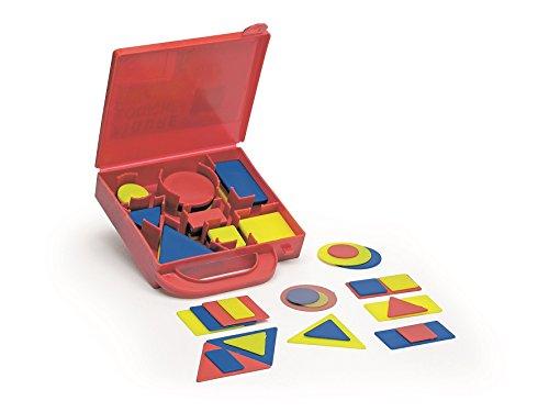 Italveneta Didattica, Logikspiel, Koffer Nr. 510 mit Formen aus Kunststoff, Lernspiel