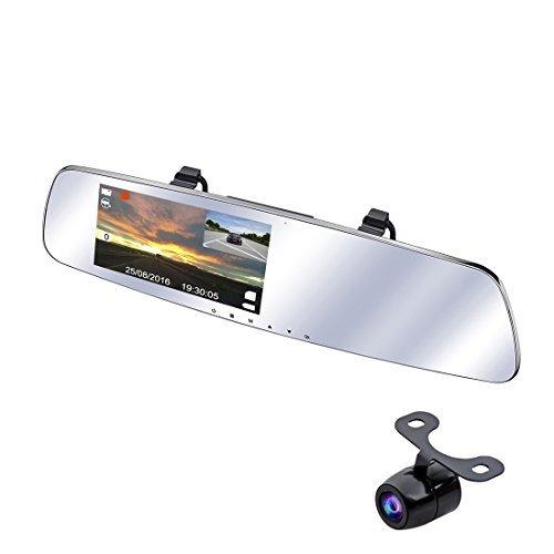 """SmarTure (2. Generation M511) 1296P Ultra HD Dual Weitwinkel Kamera 5 """"IPS Bildschirm Rearview Spiegel Dashcam mit HDR, Parkassistenz System, Parkschutz Modus (ohne SD Karte)"""