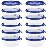 Cutting EDGE Nesterware Food Storage Container for Pulses, Sugar, Tea, Cereals - 500ML (Dark Blue, 12)