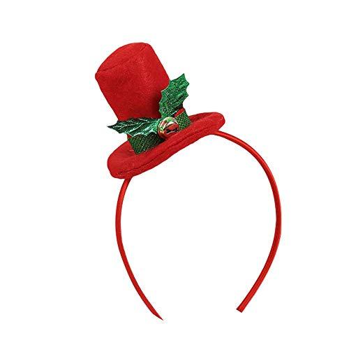 Vektenxi Premium Qualität Nette Weihnachten Top Hut Stirnband Headwear Erwachsene Kinder Haarband Xmas Party Requisiten Top Hut * (Weihnachts Top Hut)