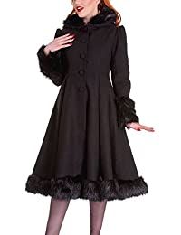 Hell Bunny Damen Mantel schwarz schwarz