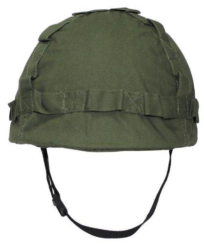 US Helm Kunststoff, mit Stoffbezug Oliv