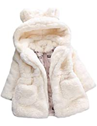 f802bc3b90 Huicai Baumwollmantel für Mädchen, Kids Faux Fur Fleece Revers Mantel Winter  warme Jacke für Babys