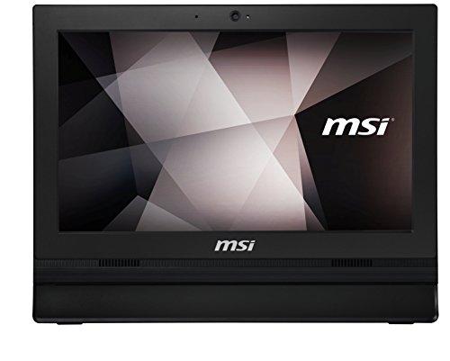 'MSI–MSI Pro 16T 7M-023X EU–Computer da scrivania tutto in uno da 15.6HD, Intel kabylake 3865u, RAM da 4GB, HDD da 500GB, Intel HD Graphics 610, senza sistema operativo), Nero