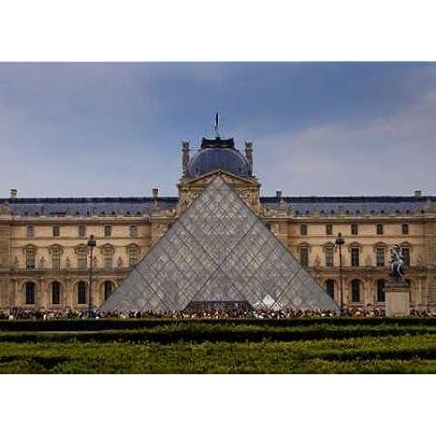 Feeling at home, Stampa artistica x cornice - quadro, fine art print, Piramide del Louvre IV cm 56x76