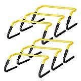 Ultrasport haies de coordination, lot de 6 pièces, réglables en hauteur de 20 cm à 30 cm / Haies d'entraînement pour le football, le sport canin et autres, conviennent également comme obstacles d'entraînement pour enfants - lot de haies, 6 pièces
