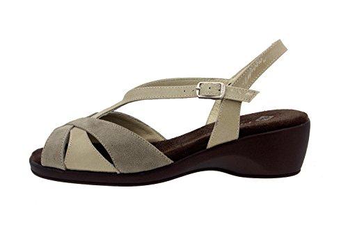 Chaussure femme confort en cuir Piesanto 2578 sandale comfortables amples Piedra