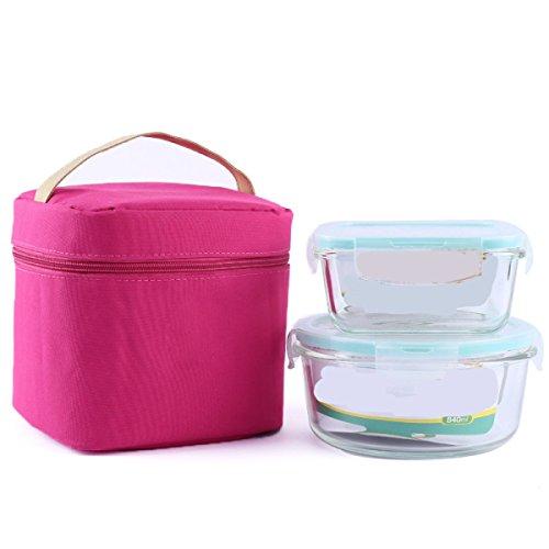 Picknick Im Freien Reisetasche Kühltasche Picknick Camping Tragbare Lebensmittel-Taschen Aufbewahrungstasche,Pink