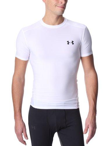 Under Armour Herren T-Shirt HG Compression Full, weiß, XXL