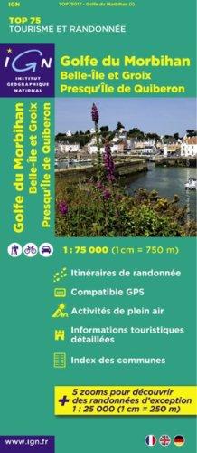 TOP75017 GOLFE DU MORBIHAN/BELLE-ILE ET GROIX 1/75.000 par COLLECTIF
