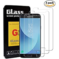 [3 Stück] Samsung Galaxy J5 2017 Schutzfolie Panzerglas,YSYS 3D Gebogen gehärtet [Blasenfreie] [9H Härte] [HD klar] [Anti-Kratzen] [Einfache Installation] Glas Bildschirm Film für Samsung Galaxy J5 2017