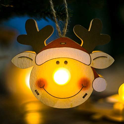 jieGREAT ❄ Weihnachten Deko❄ ,LED Licht Holz Puppen Weihnachten Ornamente Baum hängen Dekor Home Decoration