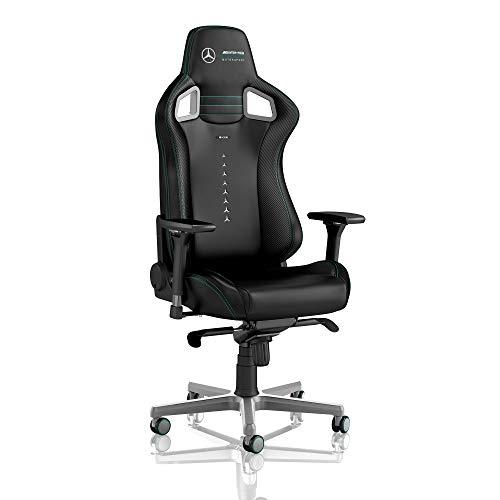noblechairs Epic Gamingstuhl - Bürostuhl - Schreibtischstuhl - PU-Kunstleder - Mercedes AMG Petronas Motorsport Edition