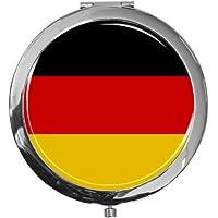 """metALUm - Extragroße Pillendose in runder Form""""Flagge Deutschland"""" preisvergleich bei billige-tabletten.eu"""