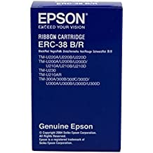 Epson ERC38BR - Cinta para impresora matricial, color negro
