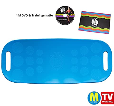 Simply Fit Board Fitnessgerät BLAU inkl DVD und Trainingsmatte Balance Board Workout Twist das Original von Mediashop