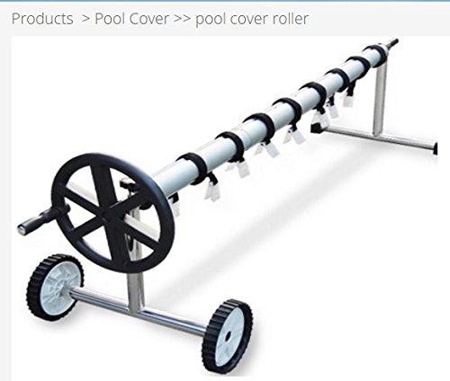 Aufroller Pool Abdeckung Solarfolie Schwimmbad max 5,55 Meter Edelstahl und Aluminium