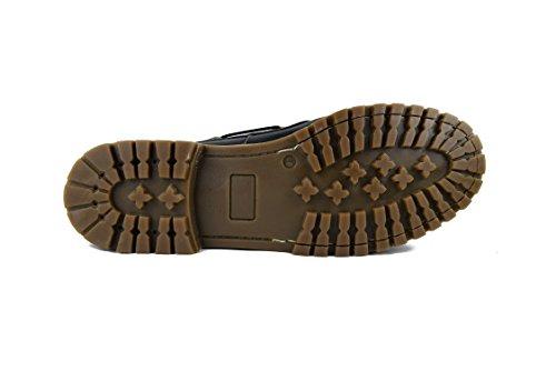 Zerimar Leder Bootsschuhe für Herren Segelschuhe Grosse Grössen Herren Echte Leder Schuhe Casual Echte Leder Herren Schuhe Leder Schuh für Mann Übergrösse XXL 100% Leder Marine blau16