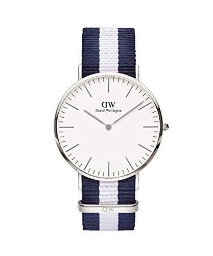 DANIEL WELLINGTON – Reloj de los hombres de 40 mm, DANIEL WELLINGTON GLASGOW PLATA DW00100018