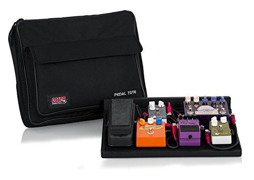 Gator pedales de guitarra de madera 18 x 30,48 cm bolsa de transporte de nailon con candado de - negro