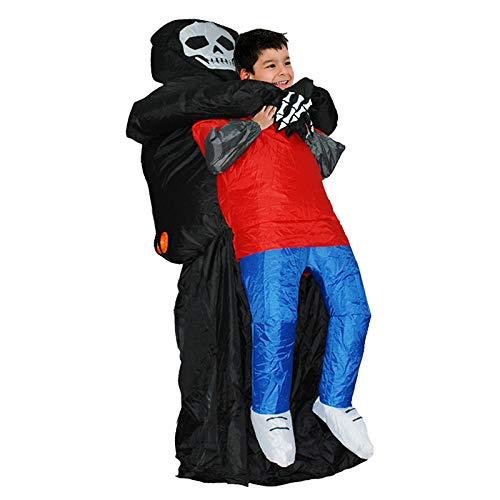 By winterwarmer gonfiabile grim reaper, fantasma gonfiabile costume adulto fantasy scheletro anime fantasia vestito partito grim reaper halloween costumi per bambini donne uomo,kids