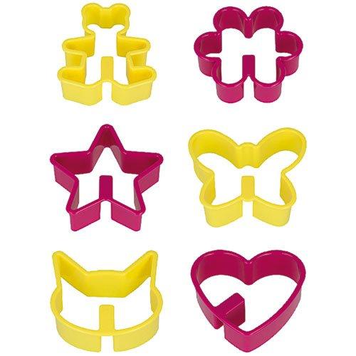 Metaltex Ausstechformen für Kaffeekekse, Kekse können an den Tassenrand gehängt Werden, 6-teiliges Set, Mehrfarbig
