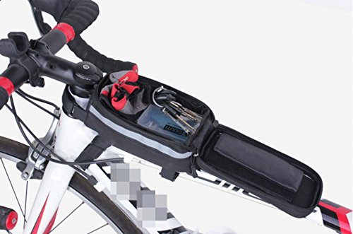 OGTOP Mountainbike Wasserdichte Touchscreen-Telefon Tasche Satteltasche Verpackungsanlagen Blue