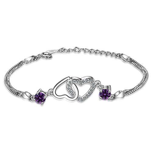 YCWDCS Armband Zirkon Kristall Frische Herzförmige Armband Frauen 2017 Einfache Mode Armband Für Frauen Mädchen Geschenk