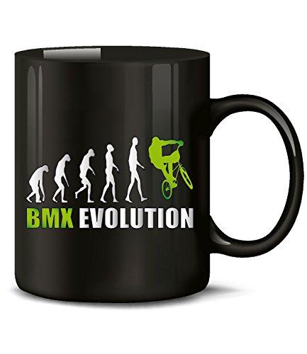Golebros BMX Evolution Radsport 551 Geburtstag Geschenk Fun Tasse Becher Kaffeetasse Kaffeebecher Schwarz-Grün