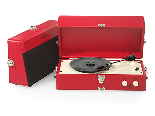 Ricatech RTT80 Tourne-disque Vintage Rouge