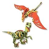 Herpa Toys 85BC-20001 Bloco-Figuren: Velociraptor und Pterosaur