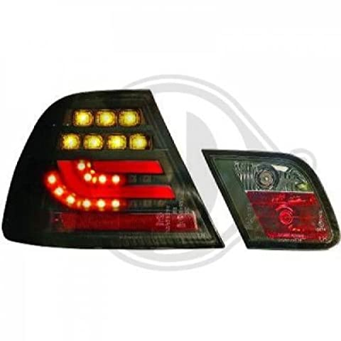 feux arrière design, set E46, 99-03 COUPE cristal/fumé-noir clign./feu stop en LED feu position/arrière en LED LIGHT BAR DESIGN