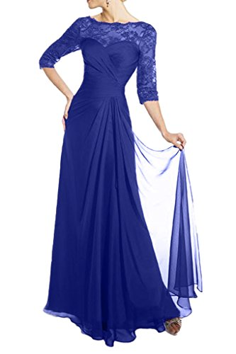Victory Bridal Glamour Weinrot Spitze Chiffon Abendkleider Ballkleider fuer Brautmutter Lang Neu Royal Blau