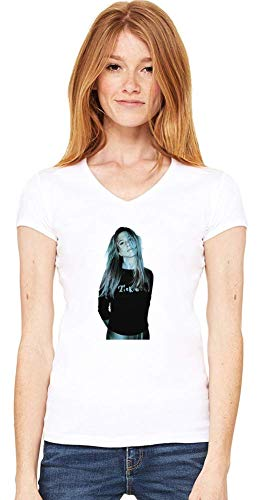 Movie Stars Merchandise Jennifer Aniston Women V-Neck T-Shirt Stylish Fashion Fit Custom Apparel by Large